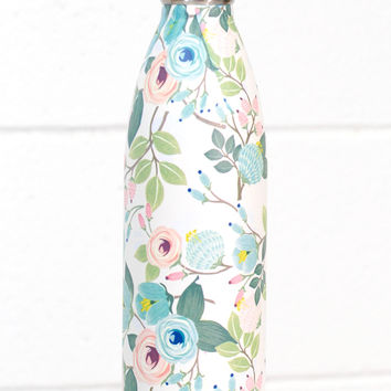Stainless Steel 25 oz Floral Hot/Cold Bottle {Peach}