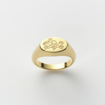 Symbol of Summer Signet Pinky Ring in 18ct Gold
