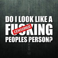 Do I Look Like Peoples Person Funny Bumper Sticker Vinyl Decal Diesel Truck Car