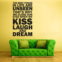 Wall Vinyl Sticker Decals Decor Art Bedroom Design Mural Words Sign Quote The best thing in life (z834)