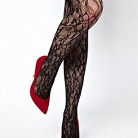 Gipsy Flower Net Lace Tights at asos.com