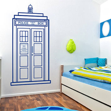 kik2245 Wall Decal Sticker Time Machine Spaceship tardis doctor who living children's bedroom