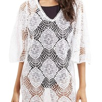 Topshop 'Angel Wing' Lace Cover-Up Caftan   Nordstrom