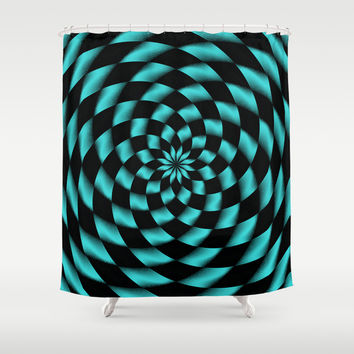 Tessalation 1 Shower Curtain by Alice Gosling
