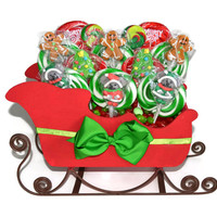Lollipop Santa Sleigh Christmas Centerpiece (Customizable)