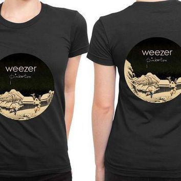 Weezer Pinkerton Cover Rounded Polygon 2 Sided Womens T Shirt