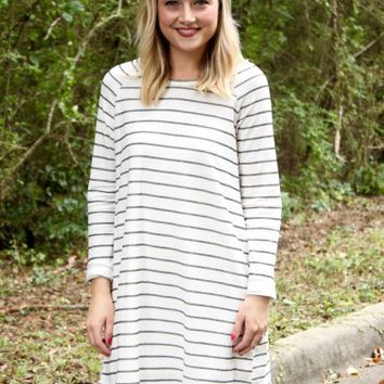 Alpine Stripe Dress- Buddy Love - Clothes