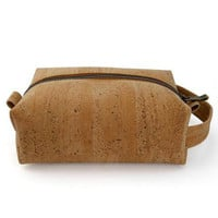 CORK DOPP BAG - NATURAL