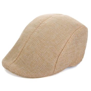 Men Women Herringbone Flat Cap Peaked Racing Hat Beret Country Golf Newsboy Cap