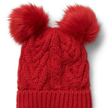 Pom-pom cable knit beanie | Gap