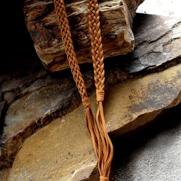 Braided Suede Necklace