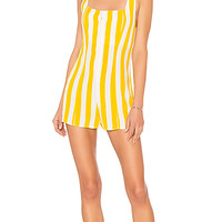 BEACH RIOT x REVOLVE Zoey Romper in Yellow Stripe | REVOLVE