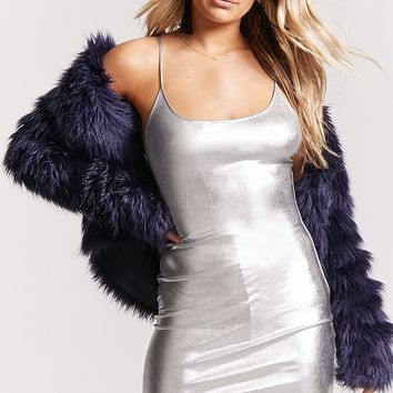 Metallic Cami Mini Dress