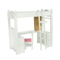 "Teamson Kids - Little Princess 18"" Doll Furniture - College Dorm Double Bunk Desk -TD-0204A"