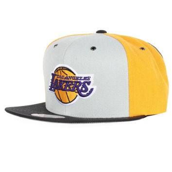 Mitchell & Ness Los Angeles Lakers NBA Pinwheel Buckle Strapack Hat