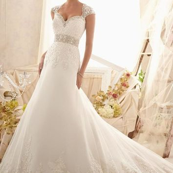 Mori Lee 2616 Lace Fit & Flare Wedding Dress