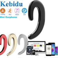 Kebidu Bone Conduction Bluetooth Wireless Sports Headphones Business Headset Stereo Fashion Gift for Friends