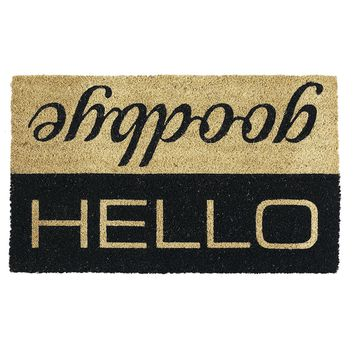 Hello Goodbye Flip Coir Doormat