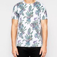 Only & Sons T-Shirt with All Over Floral Print
