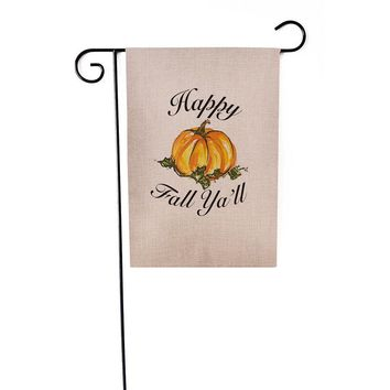New Custom Pumpkin Halloween Weatherproof Decoration Garden Flag Indoor Outdoor Festival Household Hanging Flag 12x18 inch