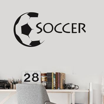 Vinyl Wall Decal Soccer Ball Sports Fan Kids Room Stickers Mural Unique Gift (ig3096)