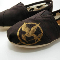 Hunger Games Custom Handpainted TOMs Shoes