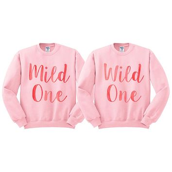 Mild One Wild One Watercolor Duo Sweatshirt