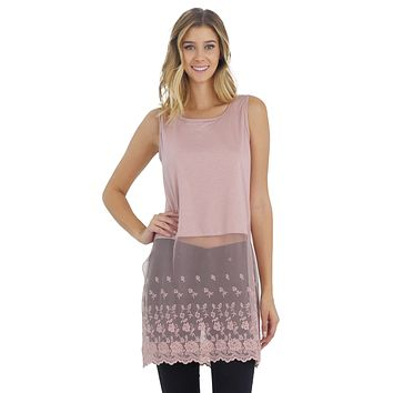 7f47c67bb9f2bf Women Lace Bottom Crop Tank and top extender