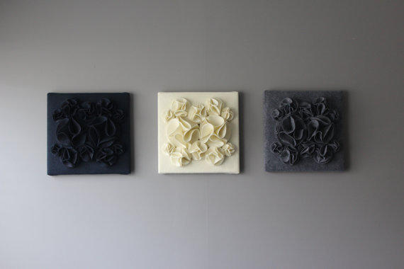 Yellow and White 3D Wall Art,Yellow and from Ten 'til Joy | Ten