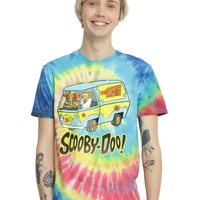Licensed cool Scooby Doo Gang Tie Dye Tee Shirt Mystery Machine Van Men's M Licensed NWT