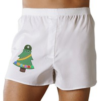 Christmas Tree Armed Design Boxers Shorts