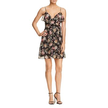 Object of Desire Floral Sleeveless Dress
