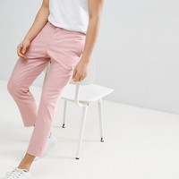 Noak Tapered Cropped Trouser In Pink at asos.com