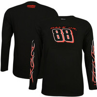 Dale Earnhardt Jr. Chase Authentics Flame Long Sleeve T-Shirt – Black