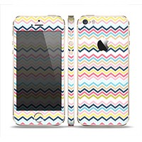 The Multi-Lined Chevron Color Pattern Skin Set for the Apple iPhone 5s