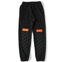 Off White Fashion Casual Simple Pants Trousers