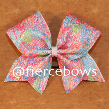 Lilly Inspired Let Cha Cha Sublimated Glitter Bow