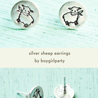 Silver Sheep / Lamb Earrings
