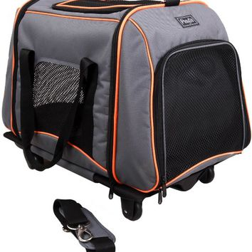 Petsfit Pet Carrier with Removeable Wheels,Soft Sided Dog Carrier