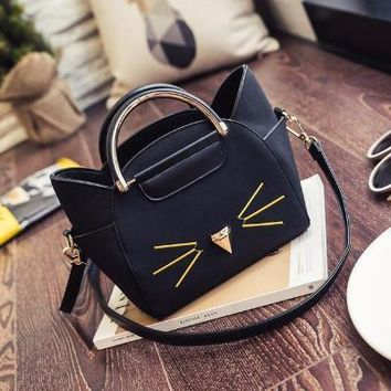 Cat Whisker Leather Purse