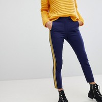 Stradivarius Contrast Side Stripe Trouser at asos.com