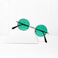 Free Love Round Shades - Green