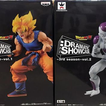 "Japan Anime ""Dragon Ball Z"" Original BANPRESTO DRAMATIC SHOWCASE 3rd season Collection Figure - Super Saiyan Son Goku & Freeza"