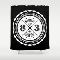 Motivate & Inspire (White) Shower Curtain by 83 Drops