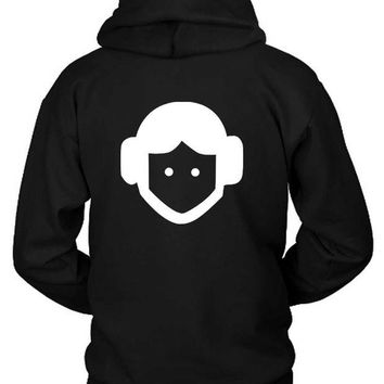 LMF1GW Star Wars Character Princess Leia Hoodie Two Sided