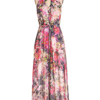 ModCloth Long Maxi With Flying Watercolors Dress