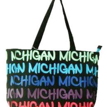 Michigan Classic Text Medium Purse