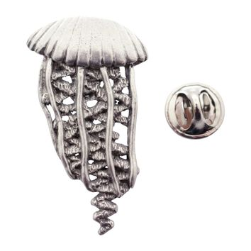 Jellyfish Pin ~ Antiqued Pewter ~ Lapel Pin