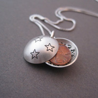 Pennies from Heaven Necklace  Personalized Locket  by trudyjames
