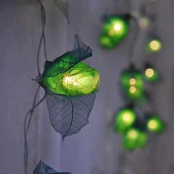 35 Bulbs Forest Green Rose String lights for Patio,Wedding,Party and Decoration